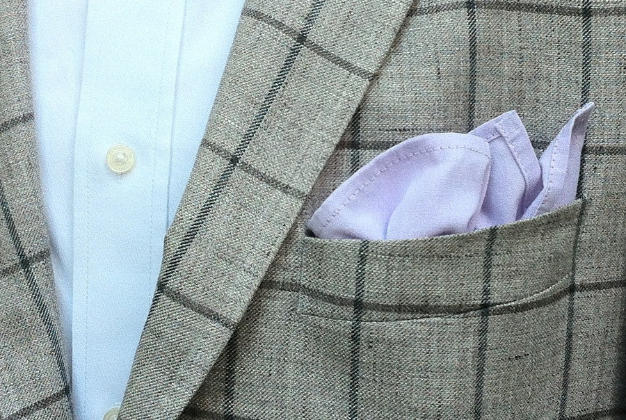 Blue Violet Chambray Pocket Square