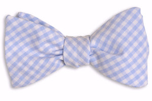 Carolina Blue Gingham Bow Tie