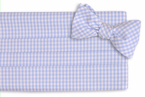 Carolina Blue Gingham Cummerbund Set