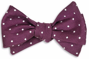 Eggplant Woven Dot Bow Tie