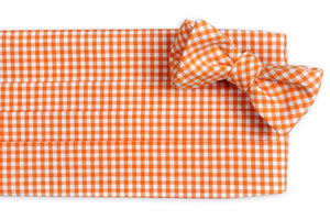 Endzone Orange Gingham Cummerbund Set