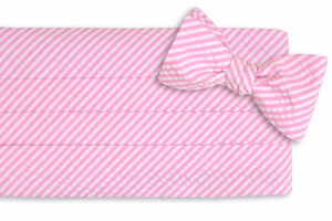 Hot Pink Seersucker Stripe Cummerbund Set