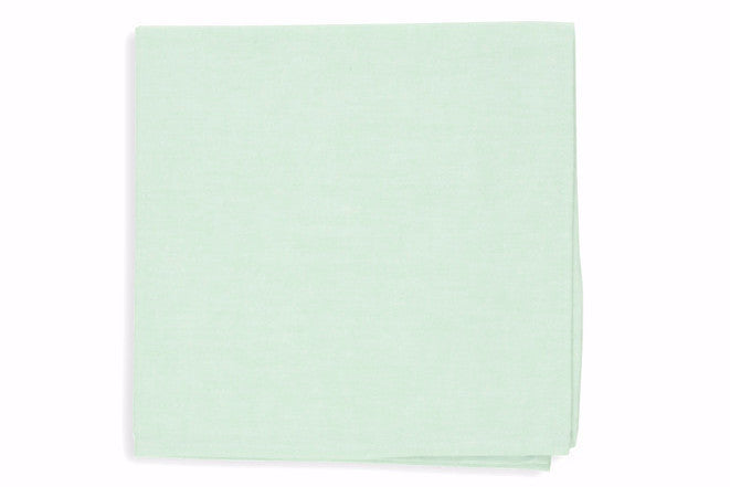 Mint Green Chambray Pocket Square