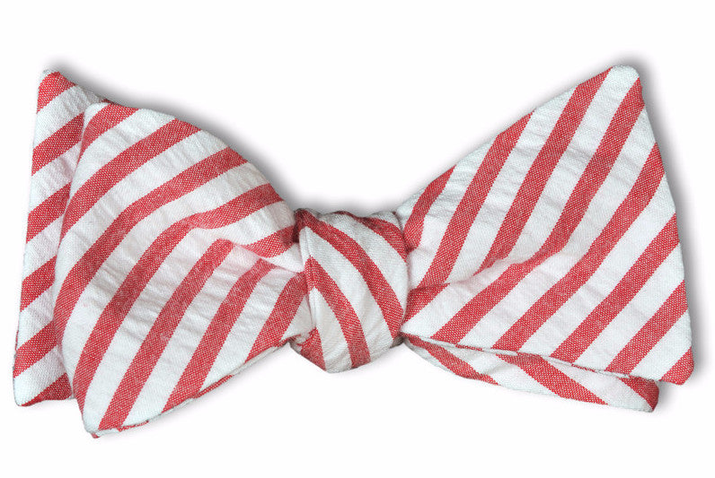 Nantucket Seersucker Stripe Bow Tie