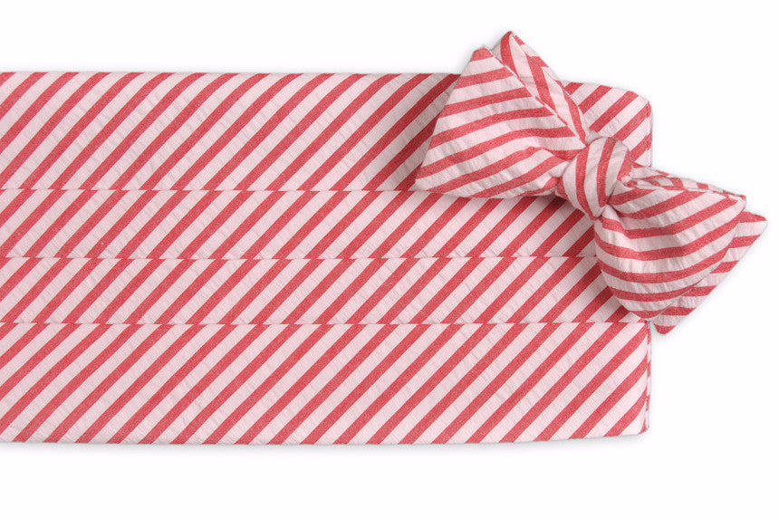 Nantucket Seersucker Stripe Cummerbund Set
