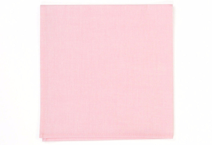 Pink Chambray Pocket Square