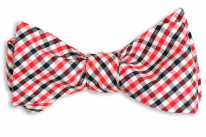 Red and Black Tattersall Bow Tie