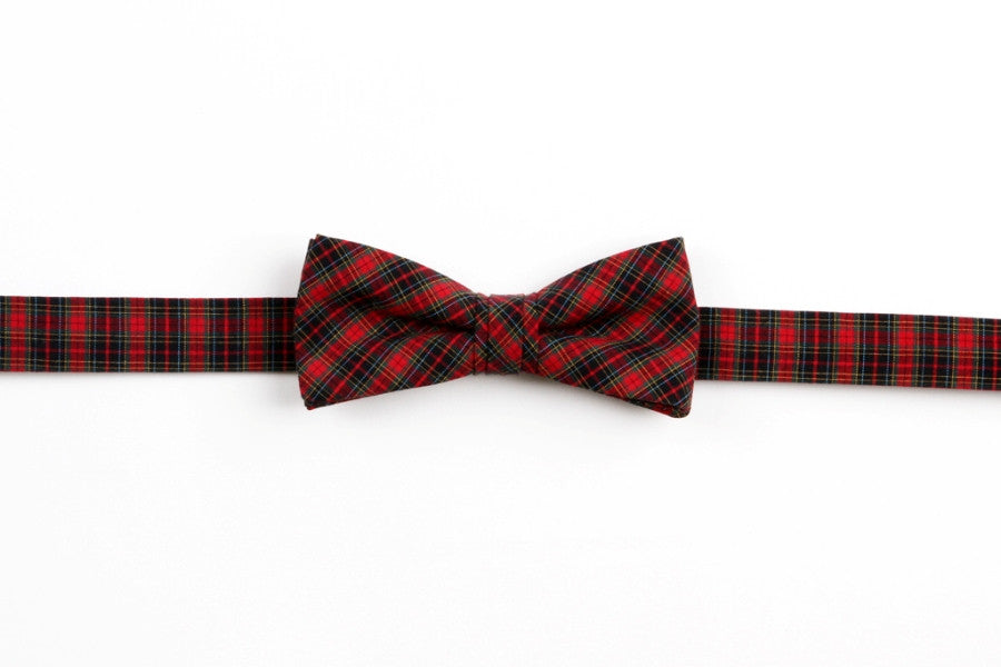Mountain Resort Plaid Boy's Bow
