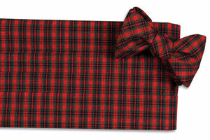 Mountain Resort Plaid Cummerbund Set
