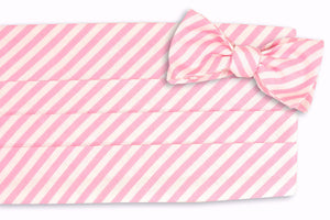 Rose Linen Stripe Cummerbund Set