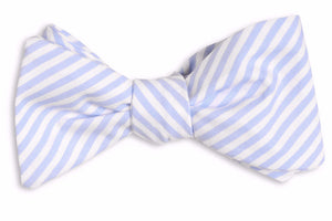 Soft Carolina Blue Stripe Bow Tie