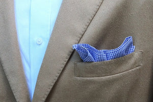Soft Lavender Mini Check Pocket Square