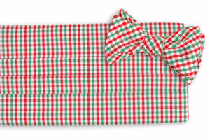 Christmas Tattersall Cummerbund Set