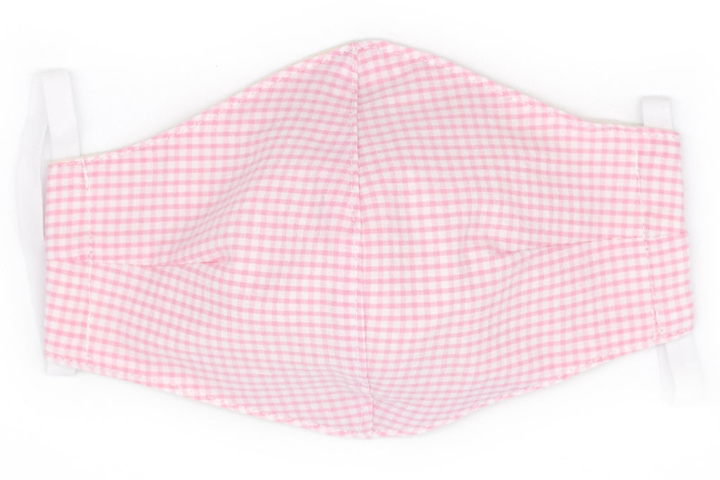 Pink Seersucker Gingham Face Mask