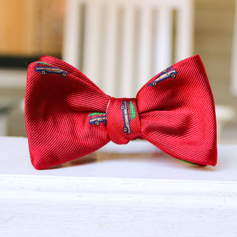 Christmas Woody Bow Tie - Red