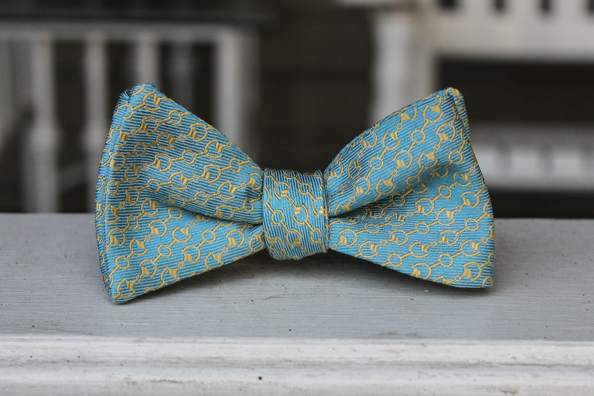Horse Bits Bow Tie - Turquoise