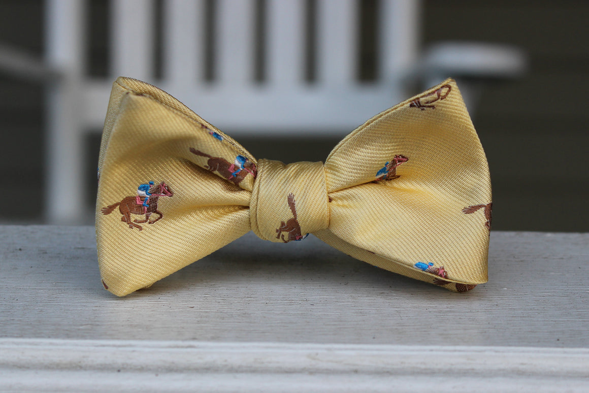 Cocky Jockey Bow Tie - Yellow