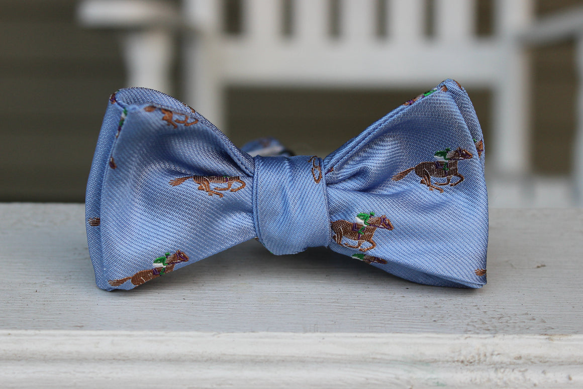 Cocky Jockey Bow Tie - Blue