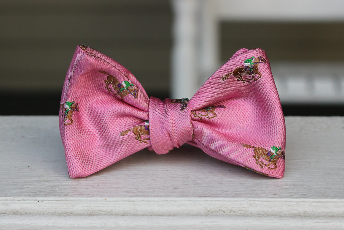 Cocky Jockey Bow Tie - Pink