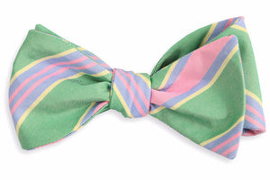 Kelly Maybank Stripe Bow Tie