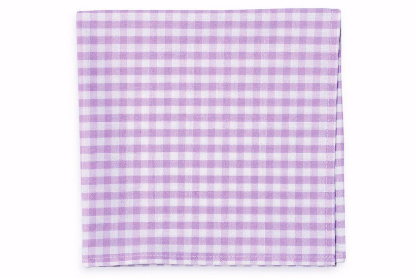Lavender Check Pocket Square