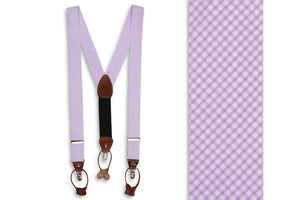 Lavender Seersucker Gingham Braces