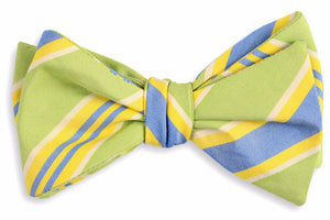 Lime Maybank Stripe Bow Tie