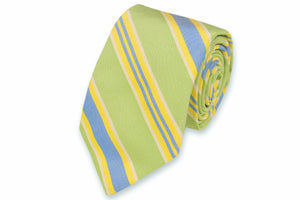 Lime Maybank Stripe Necktie