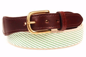 Mint Green Seersucker Belt