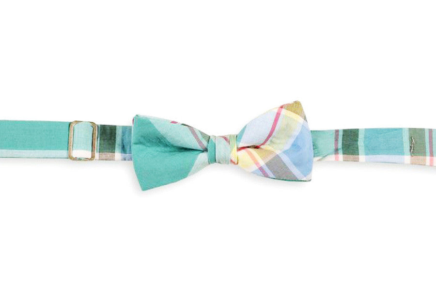Mint Julep Madras Boy's Bow Tie
