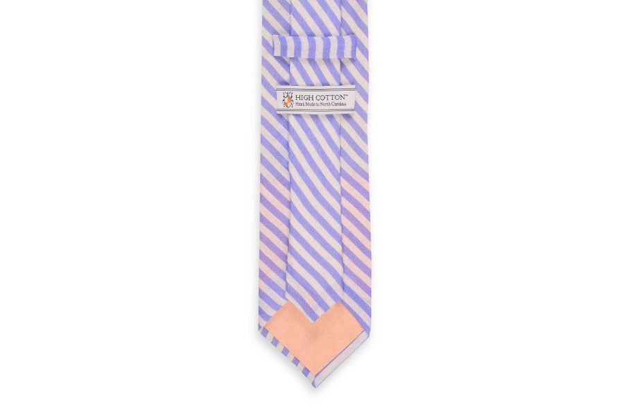 Nautical Linen Stripe Necktie