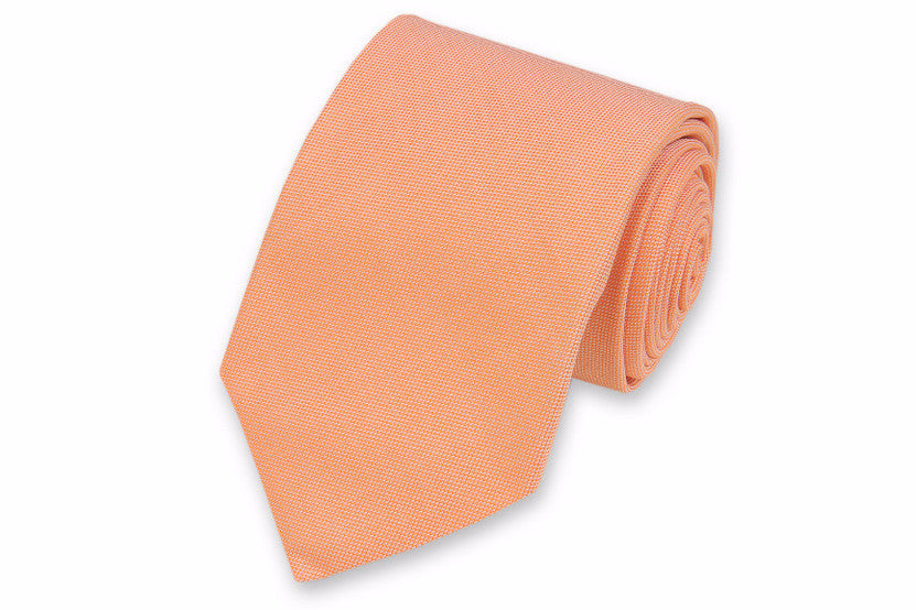 Orange Oxford Cloth Necktie