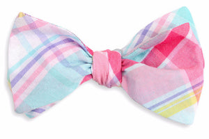 Palmetto Plaid Bow Tie