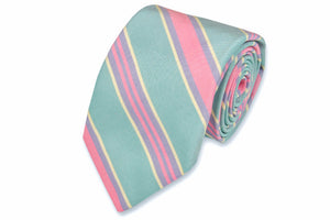 Teal Maybank Stripe Necktie