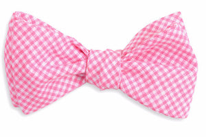 Watermelon Linen Gingham Bow Tie