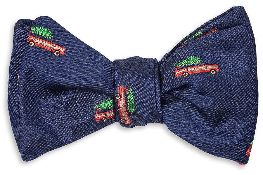 8d2746a78bdf Christmas Woody Bow Tie - Navy - High Cotton