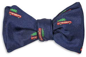 Christmas Woody Bow Tie - Navy