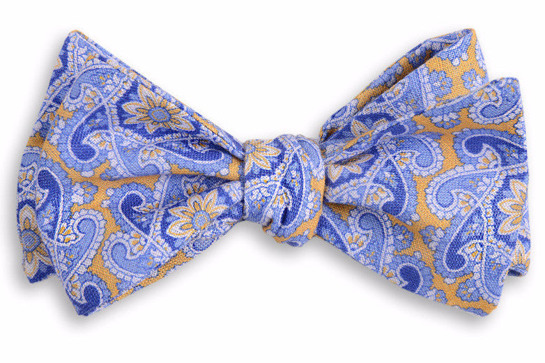 Yellow Derby Paisley Bow Tie