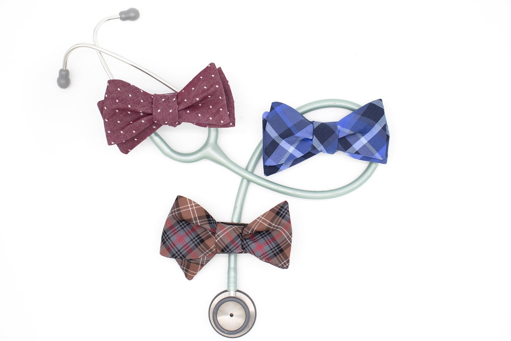 Practitioner Plaid Bow Tie