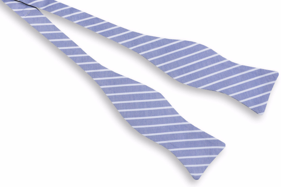 Beacon Stripe Bow Tie - Navy