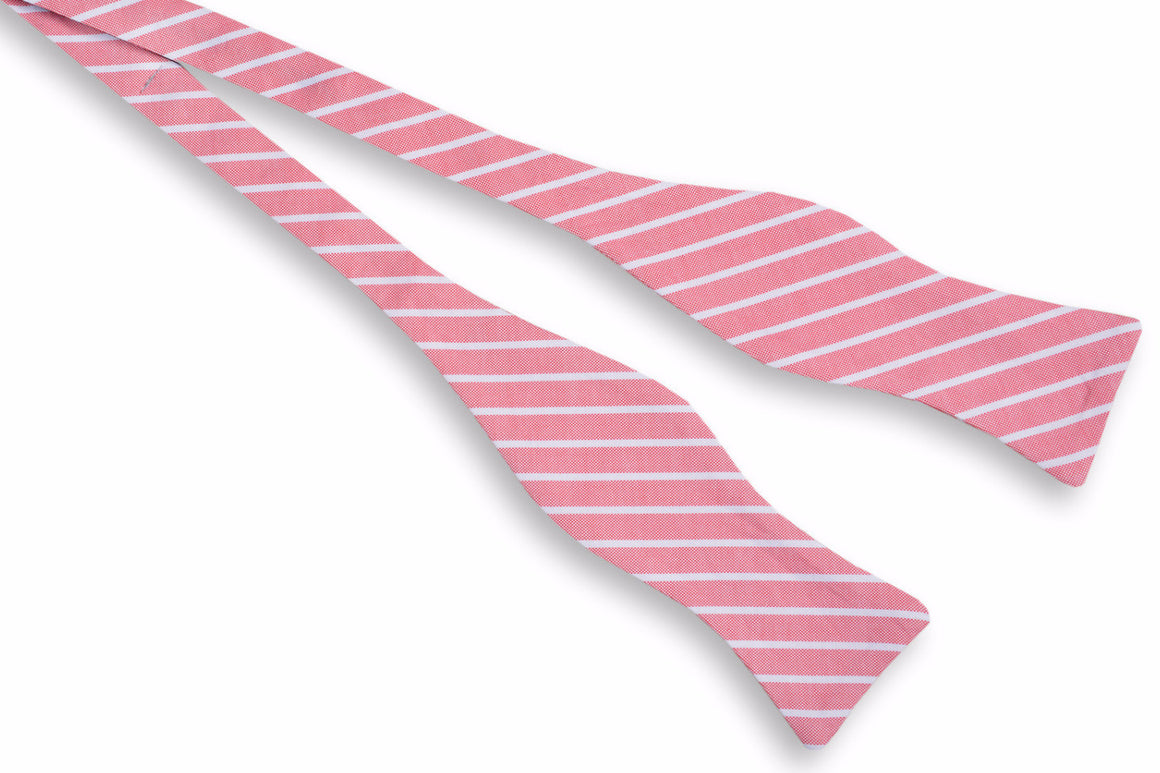 Beacon Stripe Bow Tie - Red