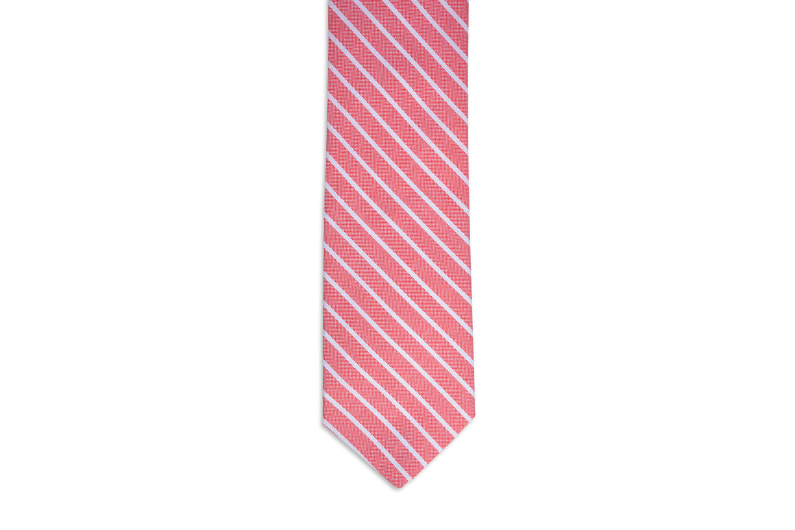 Beacon Stripe Necktie - Red