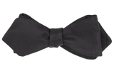 Black Faille Diamond Point Bow Tie