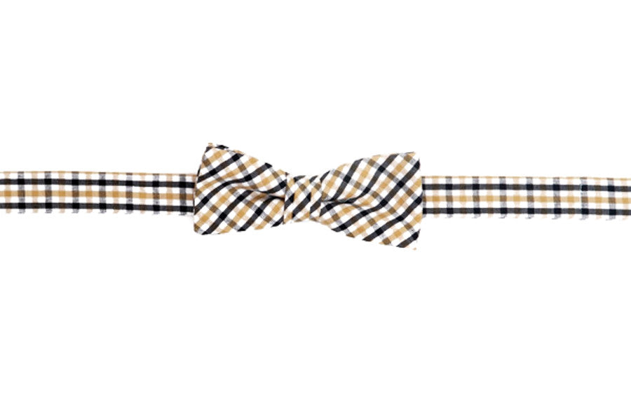 Black and Gold Tattersall Boy's Bow