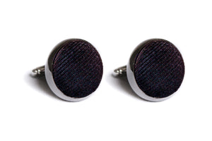 Black Faille Cufflinks