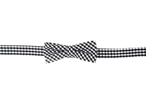 Black Gingham Boy's Bow