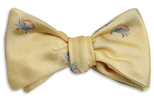 Blue Crab Bow Tie - Yellow