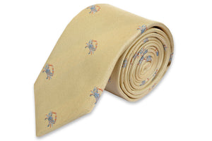 Blue Crab Necktie - Yellow