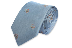 Blue Crab Necktie - Light Blue