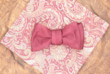 Burgundy Faille Bow Tie